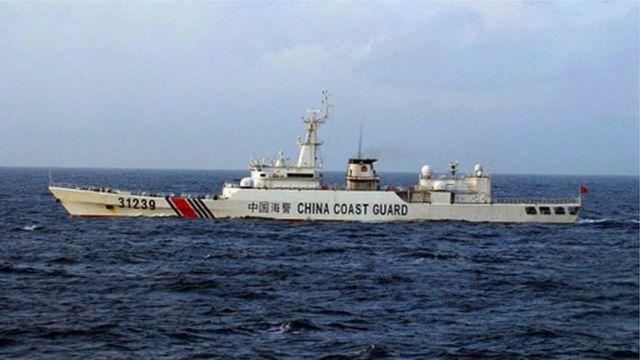 """編號""""海警31239""""的中國海警船"""