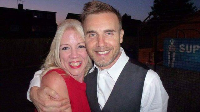 Jo Chapman with Gary Barlow