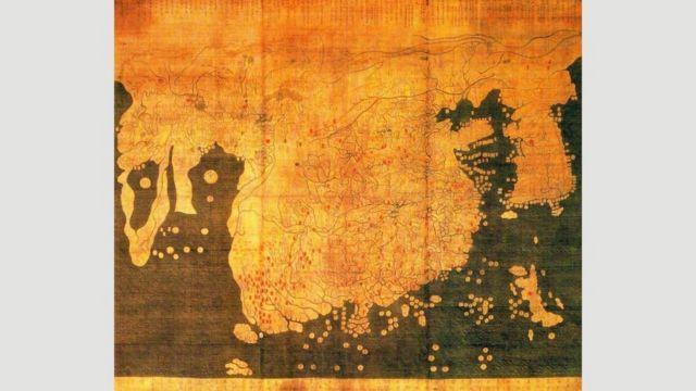 Корейская карта Каннидо 1402 года, составленная по китайским источникам