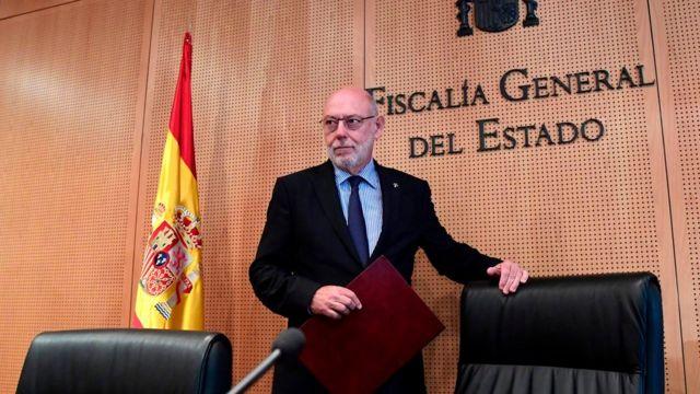 西班牙總檢察長何西·曼努爾·馬扎召開記者會