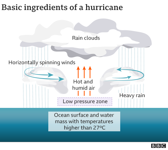 Ingredients for a hurricane