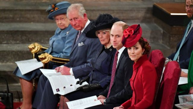 Queen Elizabeth, Prince Charles, Camilla of Cornwall, Prince William and Kate Middleton