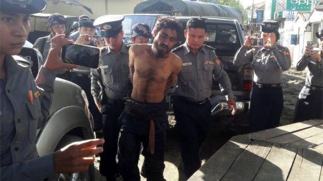 週末の攻撃に関与した疑いがかけられ拘束された男性(9日)