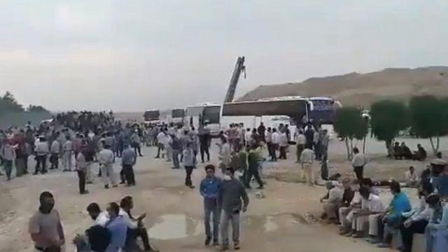 اعتصاب در پالایشگاه پارسیان لامرد