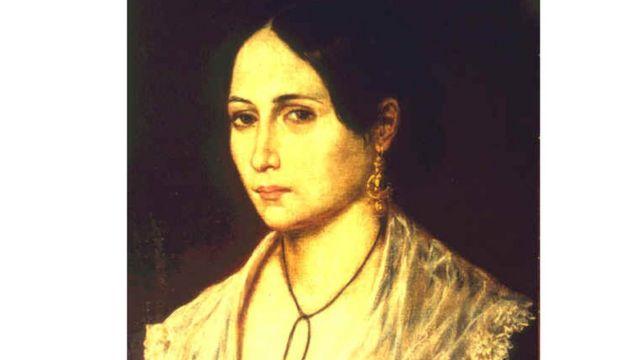 Anita Garibaldi em retrato pintado pelo italiano Gaetano Gallin, por volta de 1845