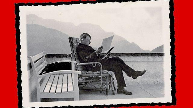 Adolf Hitler em seu casa nas montanhas da Bavária
