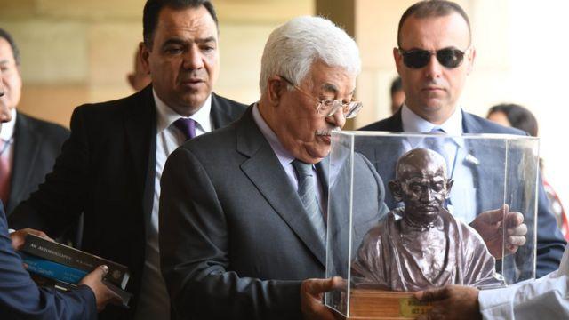 2017 में भारत के दौरे पर आए थे फ़लस्तीनी राष्ट्रपति महमूद अब्बास