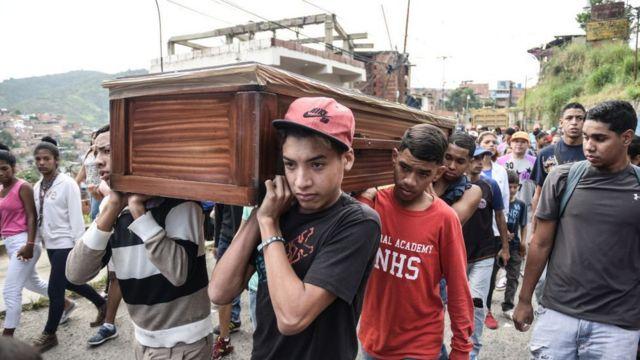 Funeral de Christian Charris en Venezuela.