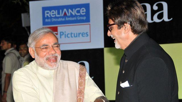 अमिताभ बच्चन, नरेंद्र मोदी