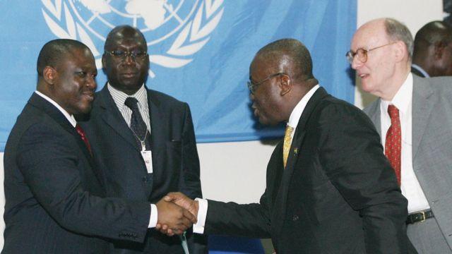 Nana Akufo-Addo den den Foreign Minister for Ghana dey meet UN officials