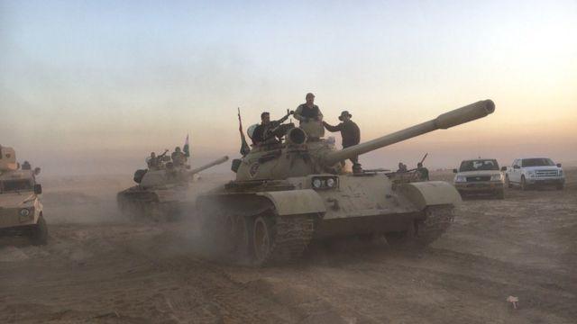 Abasirikare ba Peshmerga bitegura ibikorwa bya gisirikare i Mosul
