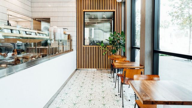 Interior of a Sweetgreen branch
