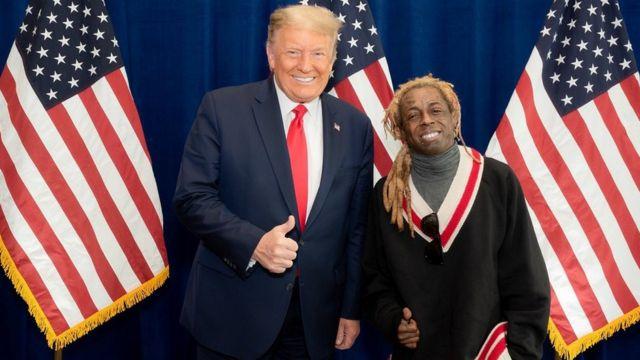 Donald Trump na Lil Wayne umwaka ushize