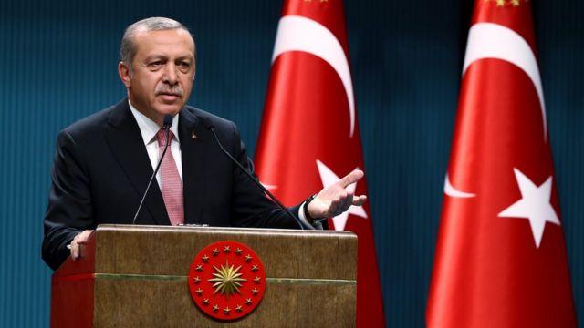 Erdogan en Ankara