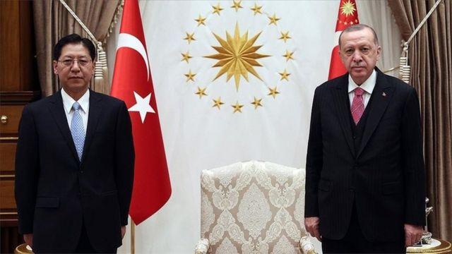 Çin'in Ankara Büyükelçisi Liu Şaobin, 15 Aralık'ta Cumhurbaşkanı Recep Tayyip Erdoğan'a güven mektubunu sunmuştu