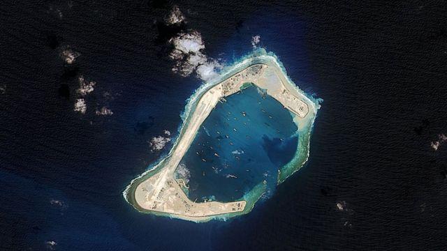 Искусственный риф Суби в Южно-Китайском море