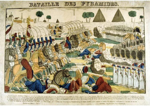Ilustración de la batalla de las Pirámides