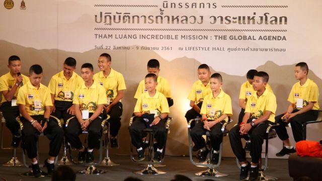 เด็ก ๆ ทีมหมูป่าทั้ง 12 คน