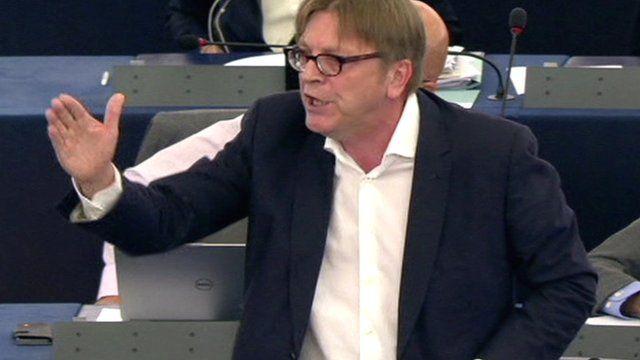 Liberal MEP Guy Verhofstadt