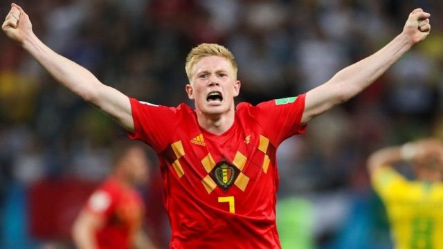 ब्राजिललाई हराएपछि बेल्जियमका खेलाडी