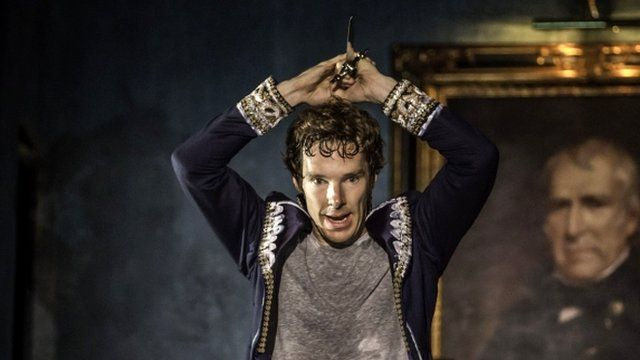 Benedict Cumberbatch as Hamlet in the production of Hamlet at the Barbican entre, London