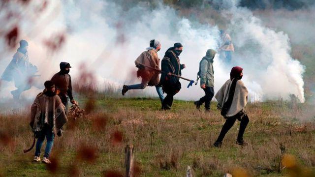 enfrentamientos entre los mapuches y la policía chilena