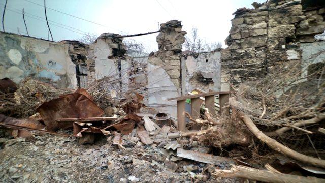 Разрушенный дом в Мартуни