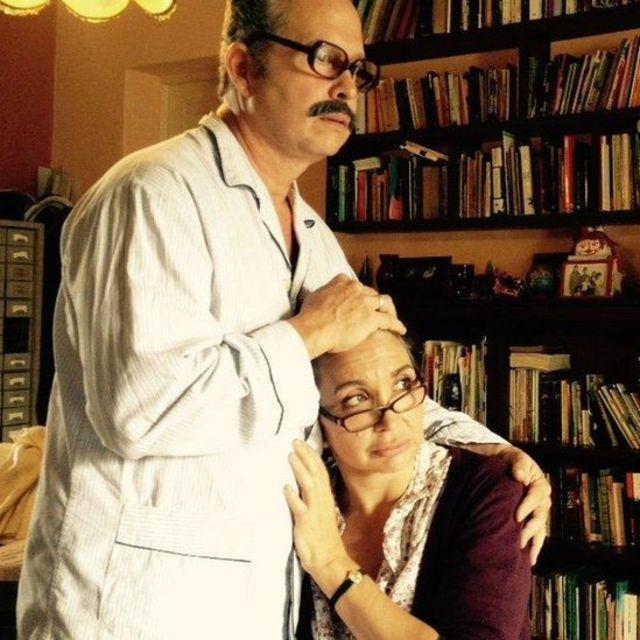 Escena de la obra de teatro El Diccionario, de Manuel Calzada Pérez.