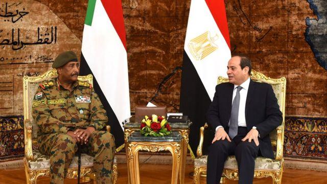 البرهان خلال لقائه بالسيسي في القاهرة