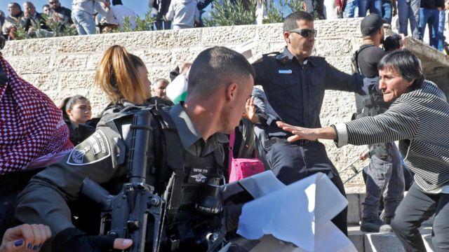 Aksi di Yerusalem