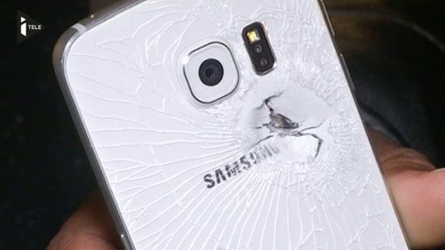 Phone damaged in Paris attack