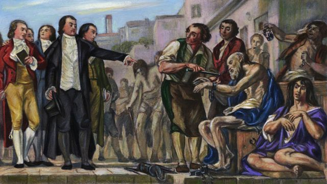 """""""Pinel removiendo las cadenas"""" de Charles Muller"""