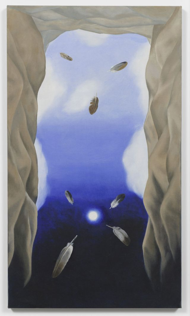 Luchita Hurtado, The Umbilical Cord of the Earth is the Moon, 1977, Óleo, Unique, 101.6 x 58.4 cm, © Luchita Hurtado, Cortesía de la artista y Hauser & Wirth, Foto: Jeff McLane
