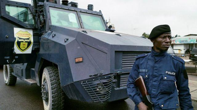 Abapolisi bakumira imyigaragambyo bagabwe mu murwa mukuru Kinshasa