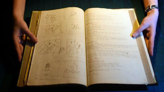 Laurence Olivier's shooting script for Henry V 1943 British Library Photo