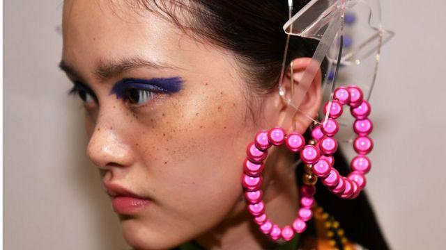 Model at Shanghai Fashion Week
