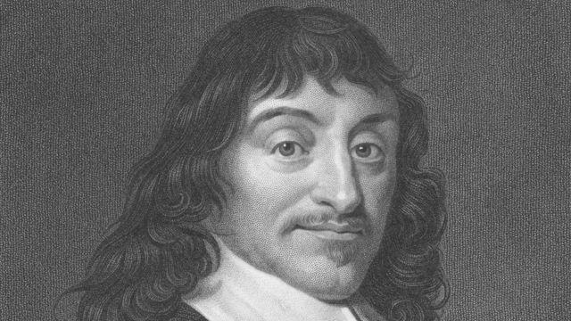 Ilustração do filósofo francês René Descartes, que visitou a Suécia durante o reinado de Cristina