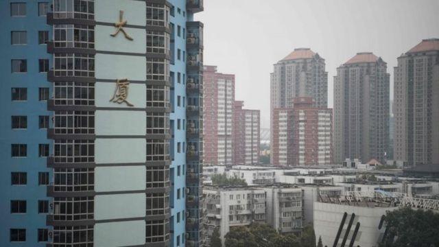 चीन में आकाश छूती इमारतें