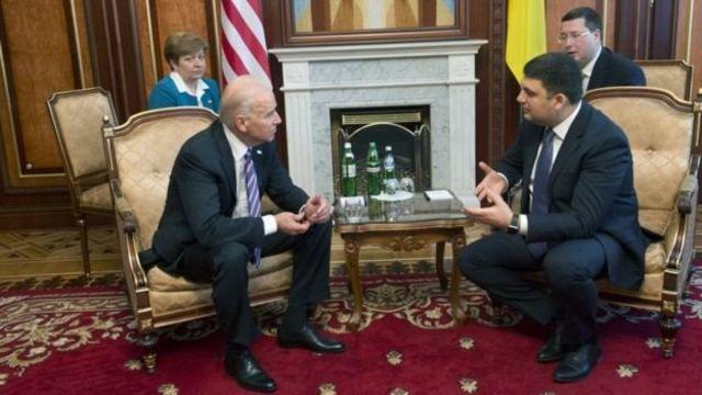 На встрече с вице-президентом США Джо Байденом