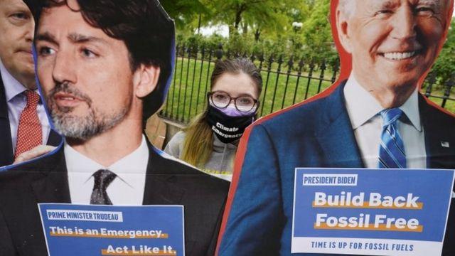 Protesto em Washington por ações contra mudanças climáticas