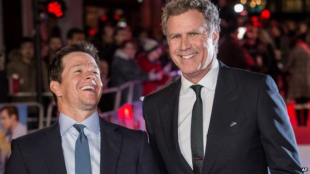 Mark Wahlberg and Will Ferrell at the London premiere of Daddy's Home