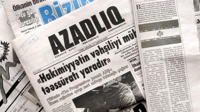 """Газета """"Азадлыг"""" основана в 1989 году оппозиционным Народным фронтом Азербайджана"""