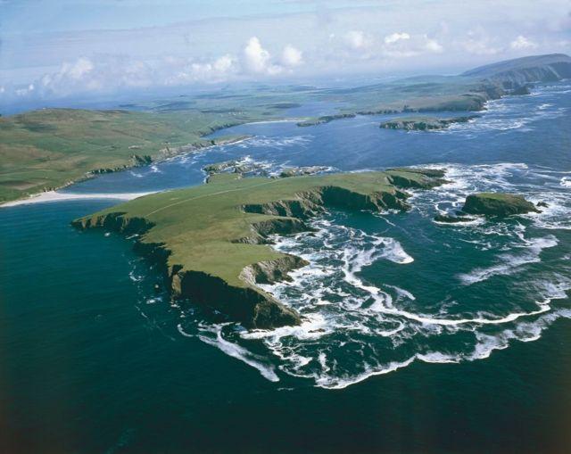Аэрофотосъемка острова архирелага Шетланд
