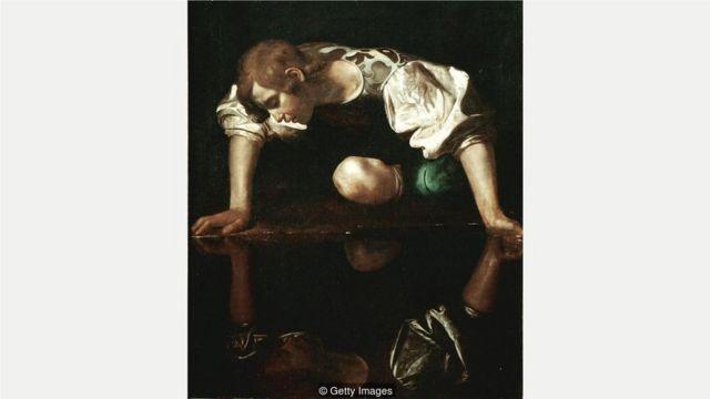 纳西瑟斯——自恋狂的原型,意大利画家卡拉瓦乔(Michelangelo Merisi da Caravaggio)创作于1596年。