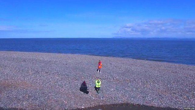 The island off the Fleetwood coastline