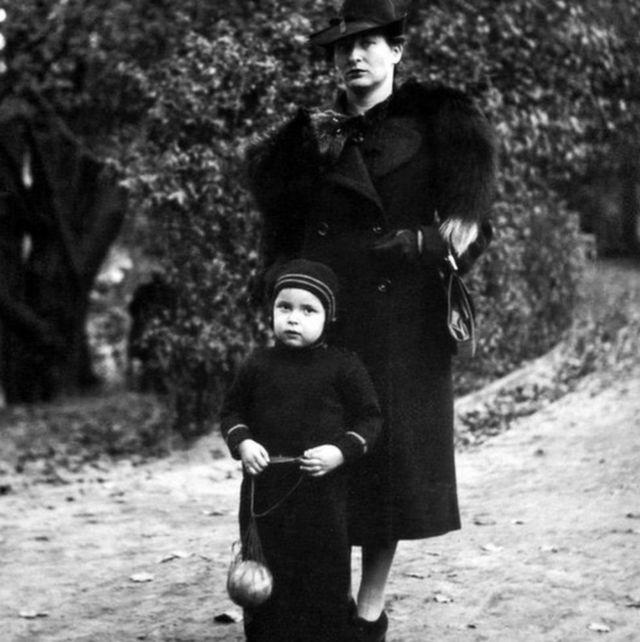 Anita con su madre
