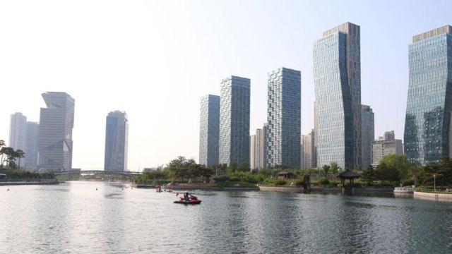 Vista de los rascacielos