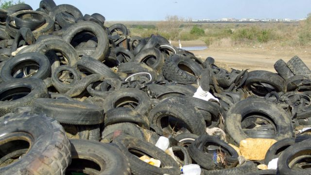 Neumáticos en Tijuana, México (Foto: Costa Salvaje)