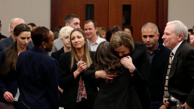 Víctimas de Nassar en la corte