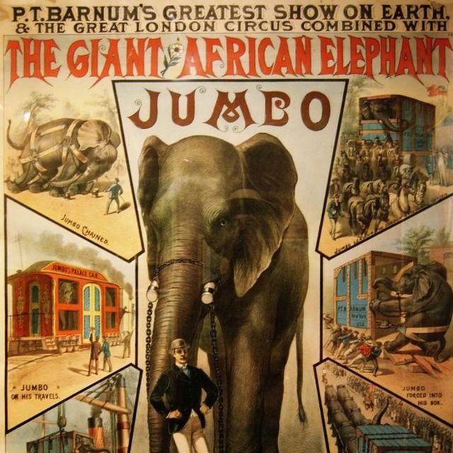 Poster do século 19 sobre Jumbo